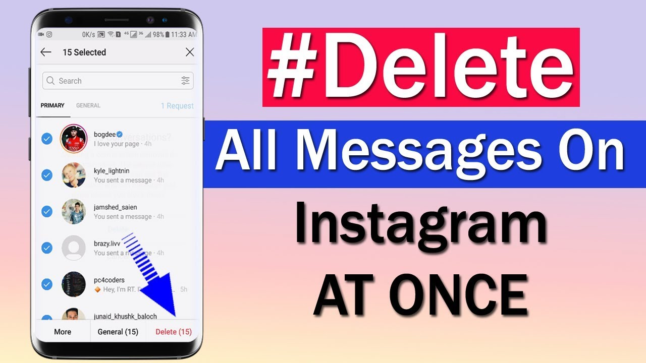 How To Delete All Messages on Instagram At Once
