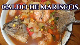 SOPA DE MARISCOS / CALDO DE MARISCOS / SEAFOOD SOUP