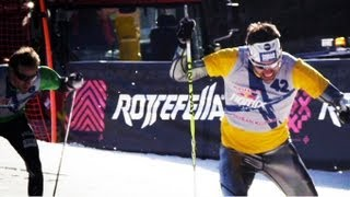 Extreme cross country ski competition - Red Bull Nordix 2012