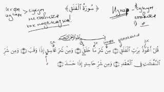 УРОКИ ТАДЖВИДА. Урок 42 Чтение суры Аль-Фаляк