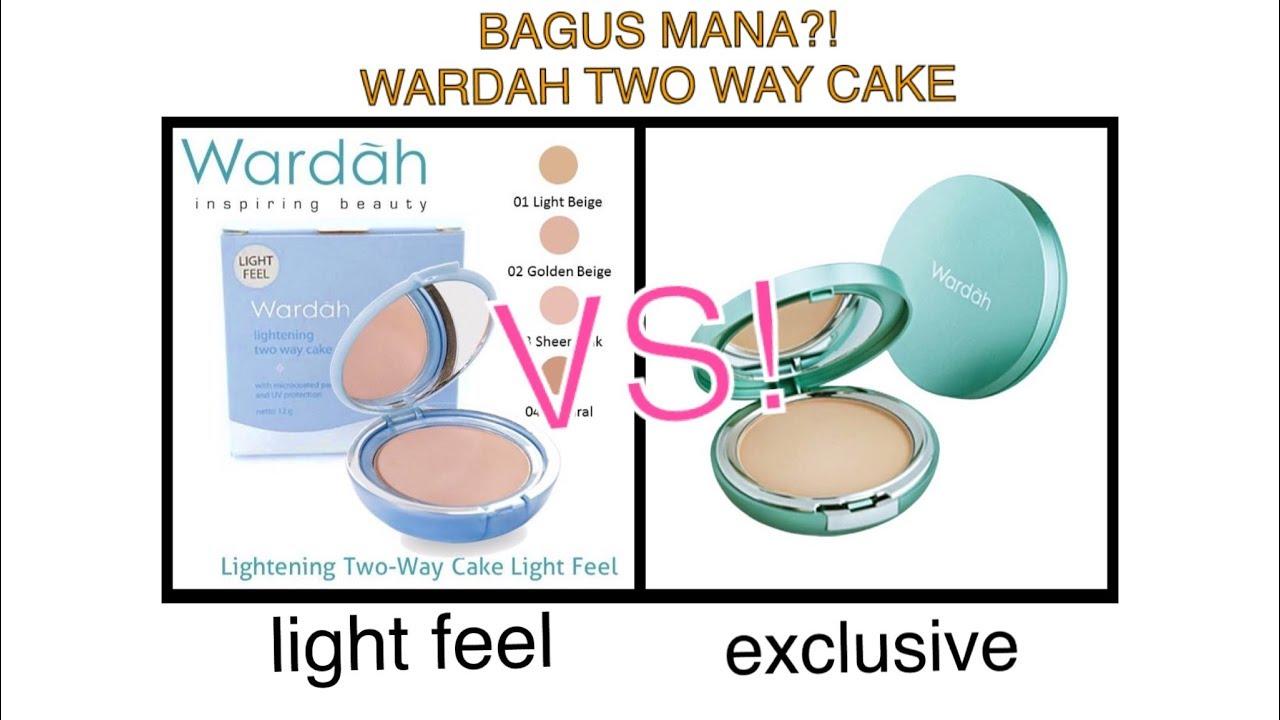 BATTLE! Wardah Lightening Two Way Cake Light Feel VS