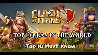 Top 10 Clans Have The Highest War Win Streak In The World Clash of Clans 2017 | Thang COC