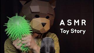 ASMR 장난감을 좋아하는 곰이 ? | 슬라임 | 브러…