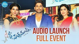 S/o Satyamurthy Audio Launch Full Event | Allu Arjun | Samantha | Nitya Menon | Trivikram | DSP Video