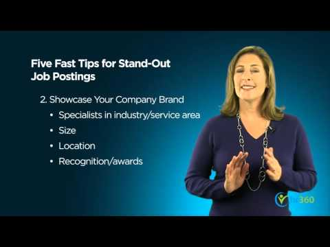 Five Fast Tips To Make Your Job Posting Stand Out