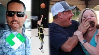 Intense Basketball, 17 Year Old Clintus, Adult Birthday Party!   Clintus.tv