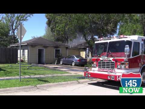 RAW VIDEO - Pasadena house fire on Sequoia Lane, 03-31-17