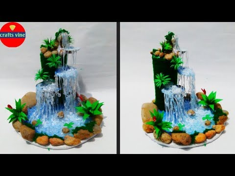 Hot glue waterfall/Plastic bottle and Sea Shell Waterfall/Crafts Vine