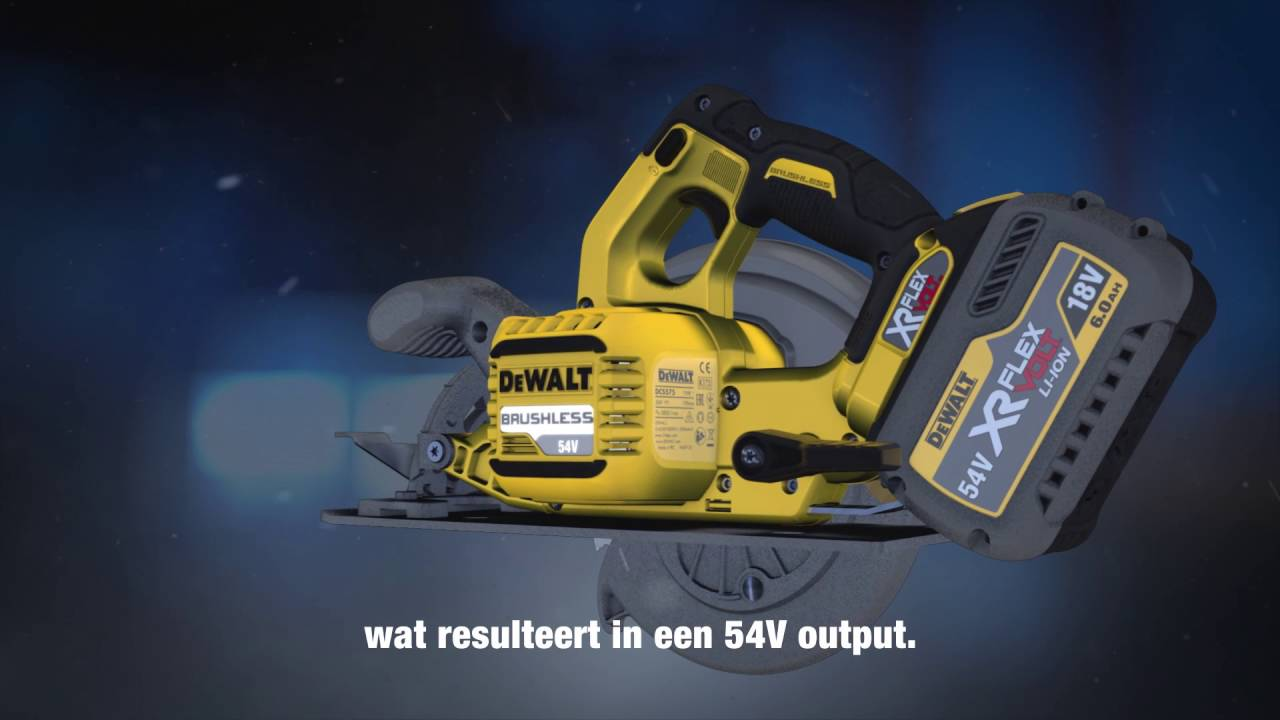 DEWALT XR FLEXVOLT Accutechnologie 18/54V