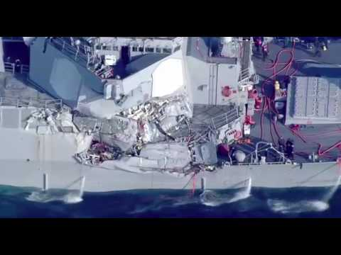 USS Fitzgerald collides with merchant vessel