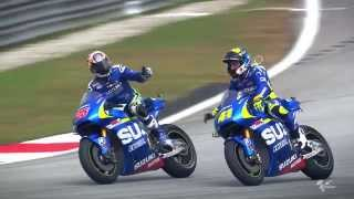 Sepang 2015 - Suzuki in Action(Watch the best 2015 images of the Suzuki Racing team at the Sepang International Circuit. Subscribe to MotoGP on YouTube: http://goo.gl/IV00s Visit The ..., 2015-10-29T11:40:45.000Z)