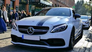Mercedes C63S AMG Edition One (coupé)  - Revs and scared a girl !!