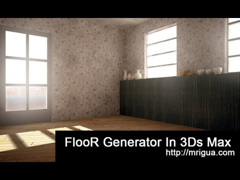3ds max Floor Generator tutorial - YouTube