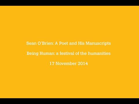 Sean O' Brien: A Poet and His Manuscripts