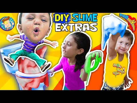 DIY FLUFFY SLIME EXTRAS + Shawn's Mac & Cheese Tease FUNnel V Challenge + Doh Much Fun Vlo