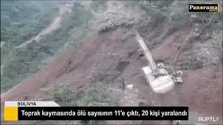 Toprak kaymasında ölü sayısının 11'e çıktı, 20 kişi yaralandı
