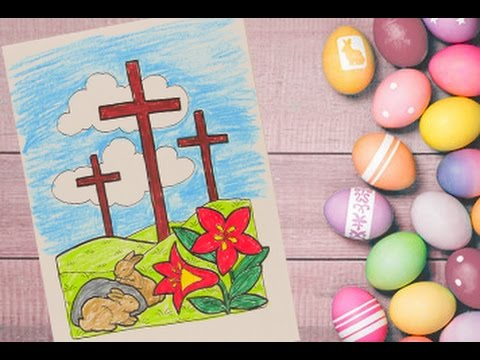 Jesus Christ Cross Coloring Pages For Kids Easter Colouring And Painting Pages For Kids
