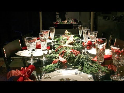 2017 Christmas Table Decorations