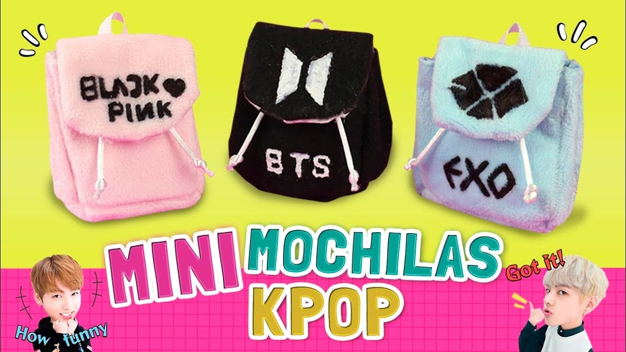 Diy Haz Mini Mochilas De Grupos Kpop Sin Coser Facil De Hacer Minibackpacks L Fabbi Lee