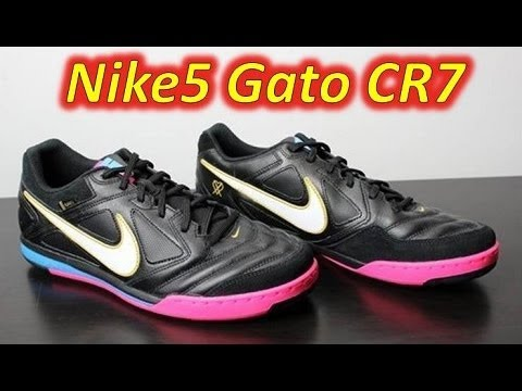 Nike5 Gato Leather CR7 Indoor - Unboxing + On Feet. Soccer Reviews For You