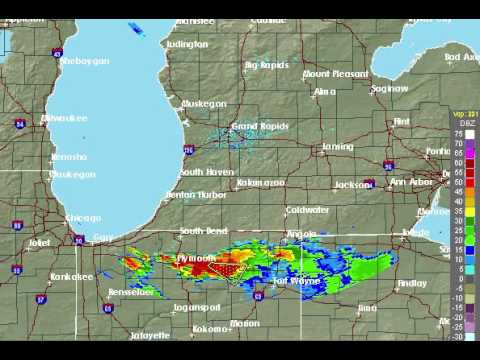Radar animation during intense lightning storm