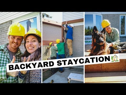 Backyard Staycation 🏡 | Building A Wooden Deck And Pergola With Home RenoVision DIY