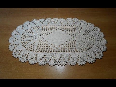 Tapete de croch oval em barbante parte 2 crochet rug - Como hacer tapetes de ganchillo ...