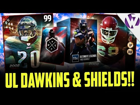 ULTIMATE LEGEND BRIAN DAWKINS & ULTIMATE LEGEND WILL SHIELDS - MADDEN 17 ULTIMATE LEGEND BUNDLE