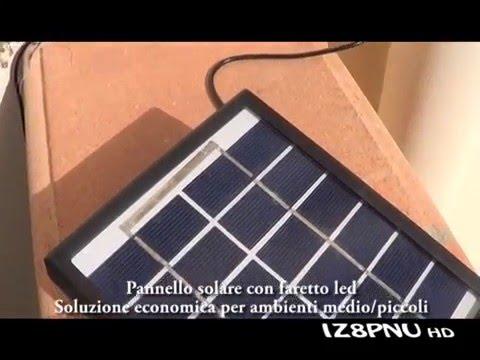 Pannello solare con faro a led sensore crepuscolare w v youtube