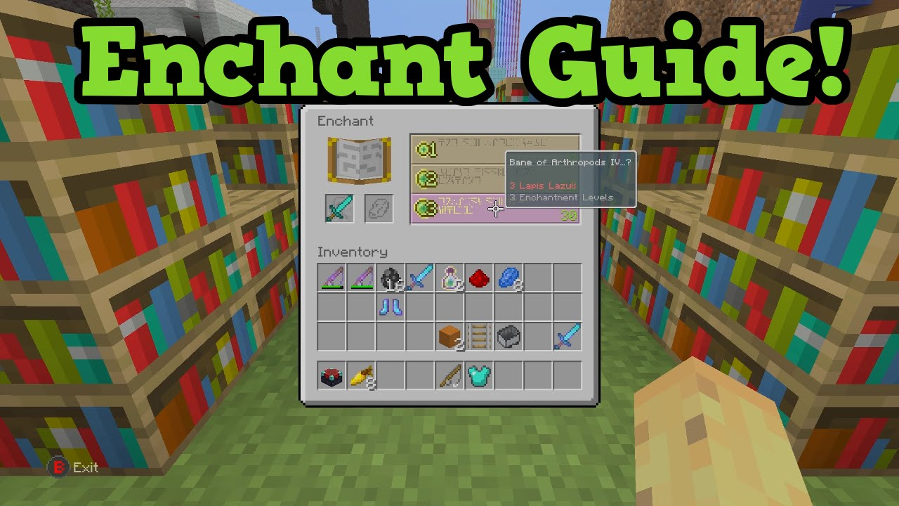 Minecraft smart enchanting tutorial (how to enchant in minecraft.