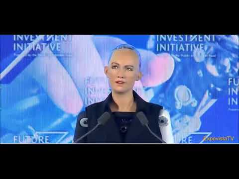 interview with  sophia world first robot with human citizenship in saudi arabia