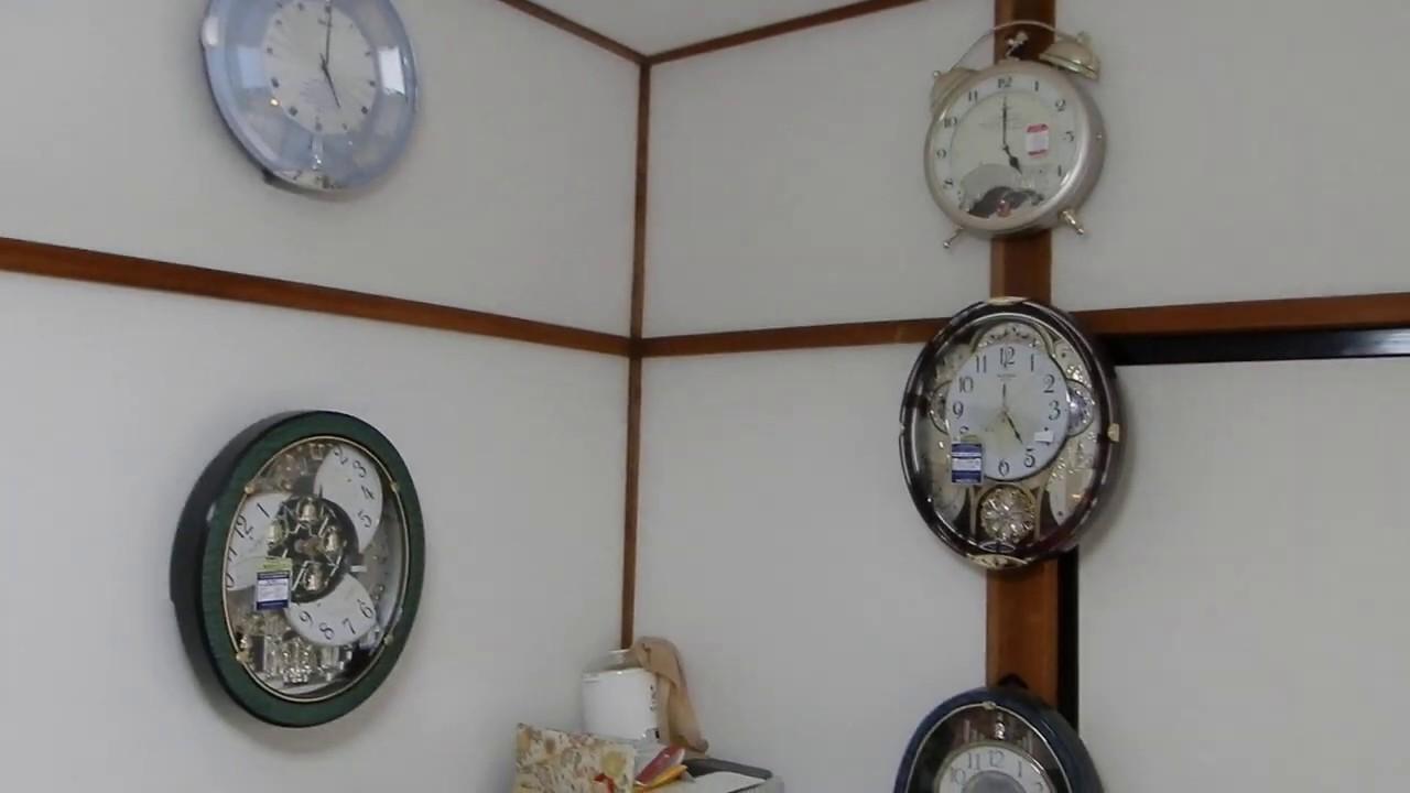 【時の記念日企画 自宅一気鳴らし 2020】部屋の時計を17時に一気に鳴らしてみた!!
