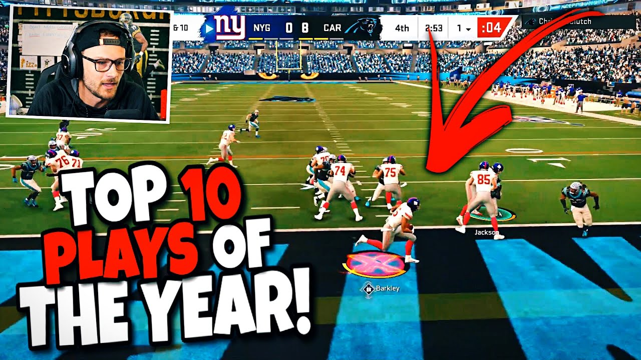Reacting to My Top 10 Plays of the Year from Madden 20!