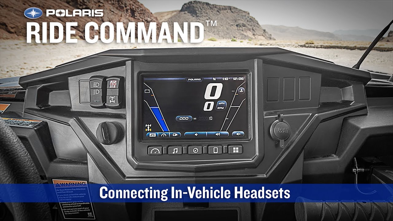RIDE    COMMAND     Connecting InVehicle Headsets   Polaris RZR    YouTube