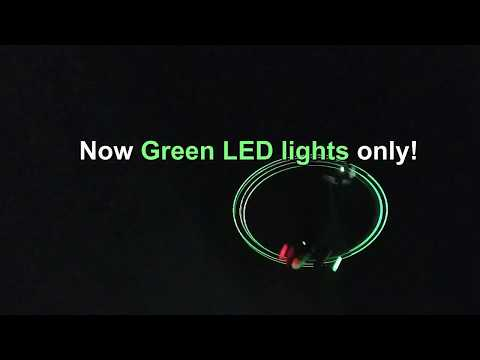 """""""Red on the left"""" Night helicopter LED Blades. There's a drawback and a plus!"""