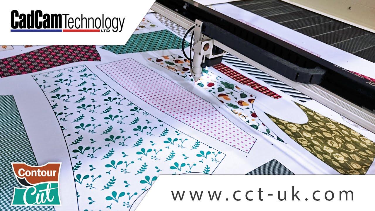 Contour Cut - Laser cutting dye sublimated fabrics - YouTube
