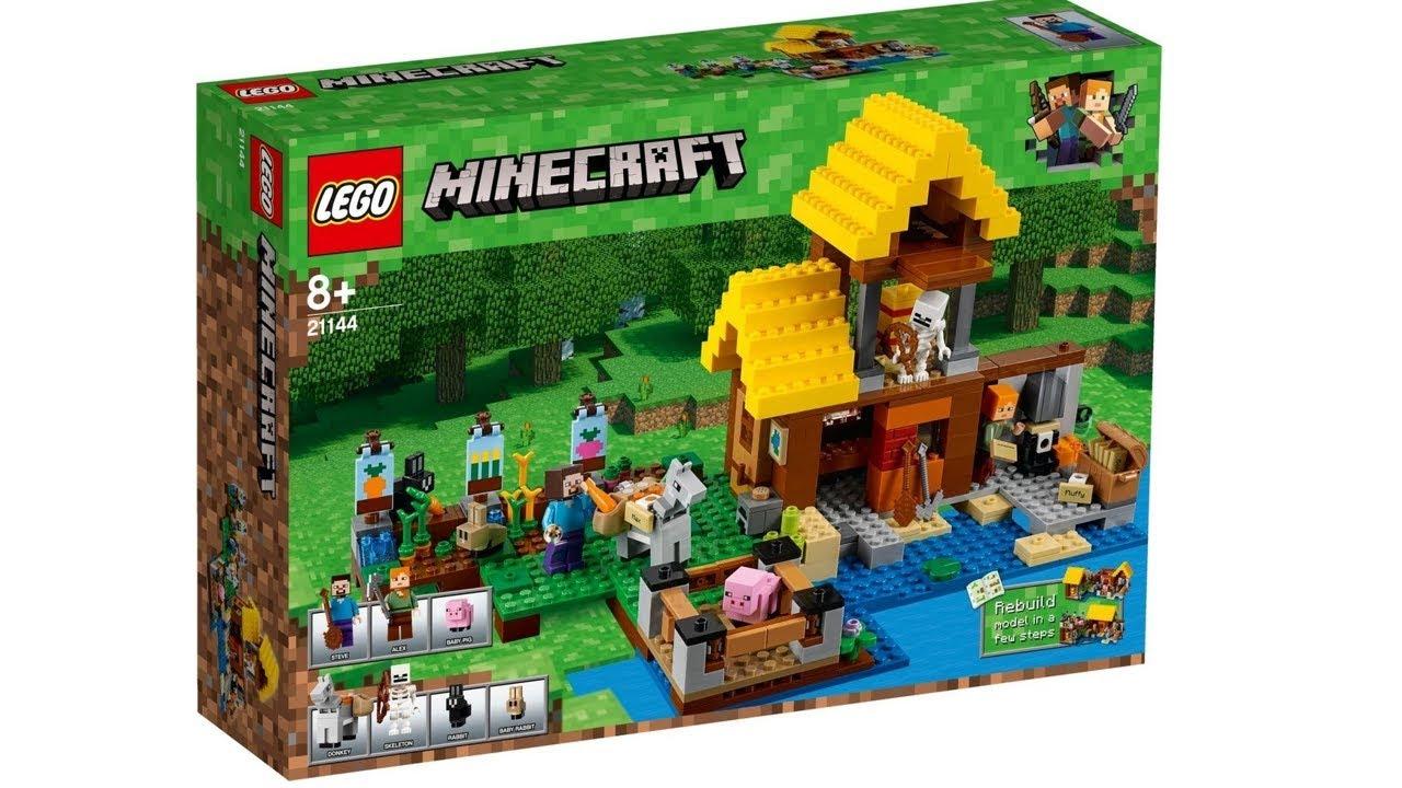 Лего Майнкрафт Грибной остров 21129 Обзор LEGO Minecraft - YouTube