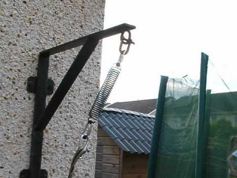 Jim Testing Spring Pole Eirepitbulls Com Youtube