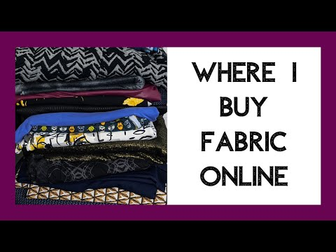Where I Buy Fabric ONLINE