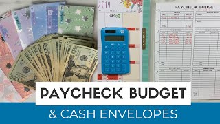 Paycheck Budget With Me & Cash Envelope Stuffing | Paycheck to Paycheck Budgeting | November Budget