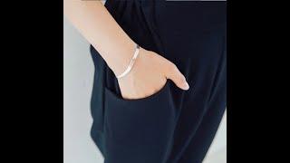 Модный 100 стерлинговое серебро 925 пробы женский браслет ювелирное изделие женская цепочка под