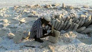 Salt mining in Danakil