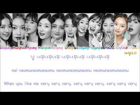 I.O.I (아이오아이) - Very Very Very (너무너무너무) [Lyrics]