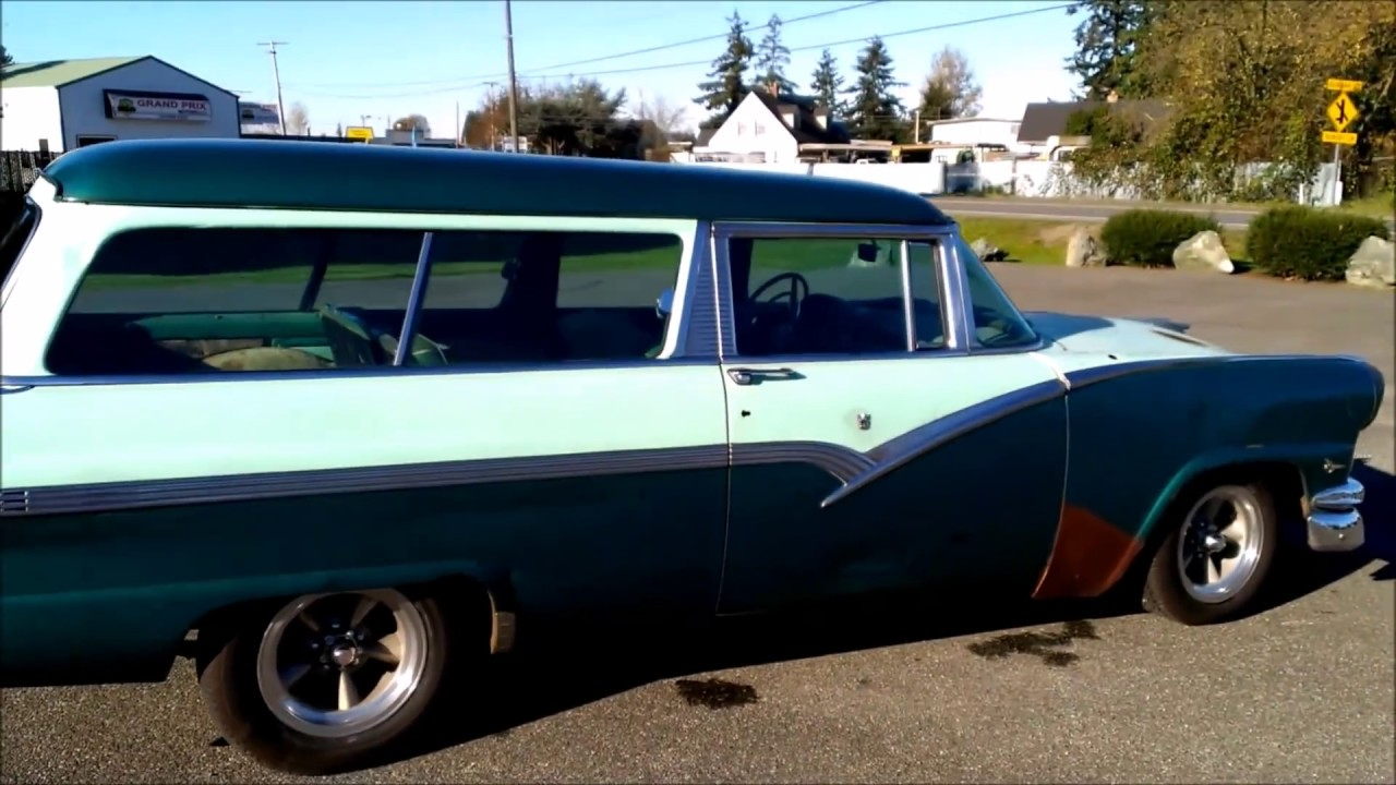 1956 ford parklane 2 door station wagon youtube for 1955 ford 2 door wagon