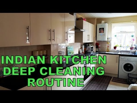 10 Simple Steps To Deep Clean Your Kitchen || Diwali Cleaning || Indian Kitchen Deep Cleaning