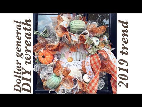 DIY Dollar General Fall Wreath | Fall Crafts