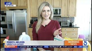 Lifestyle Expert Cheryl Nelson Shares Tik Tok Hacks on KTLA, Los Angeles