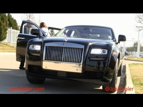 Black Rolls Royce Ghost: Veuve Clicquot Champagne, Furs, and More - click image for video