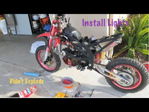 hqdefault pitbike how to install lights without a battery youtube pit bike wiring diagram without battery at metegol.co