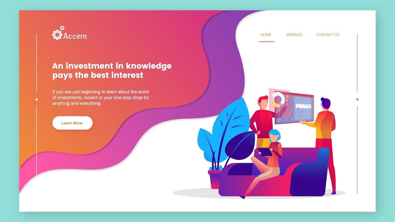Website Ui Design Tutorial Complete Website Ui Design In Adobe Xd Web Designing Youtube